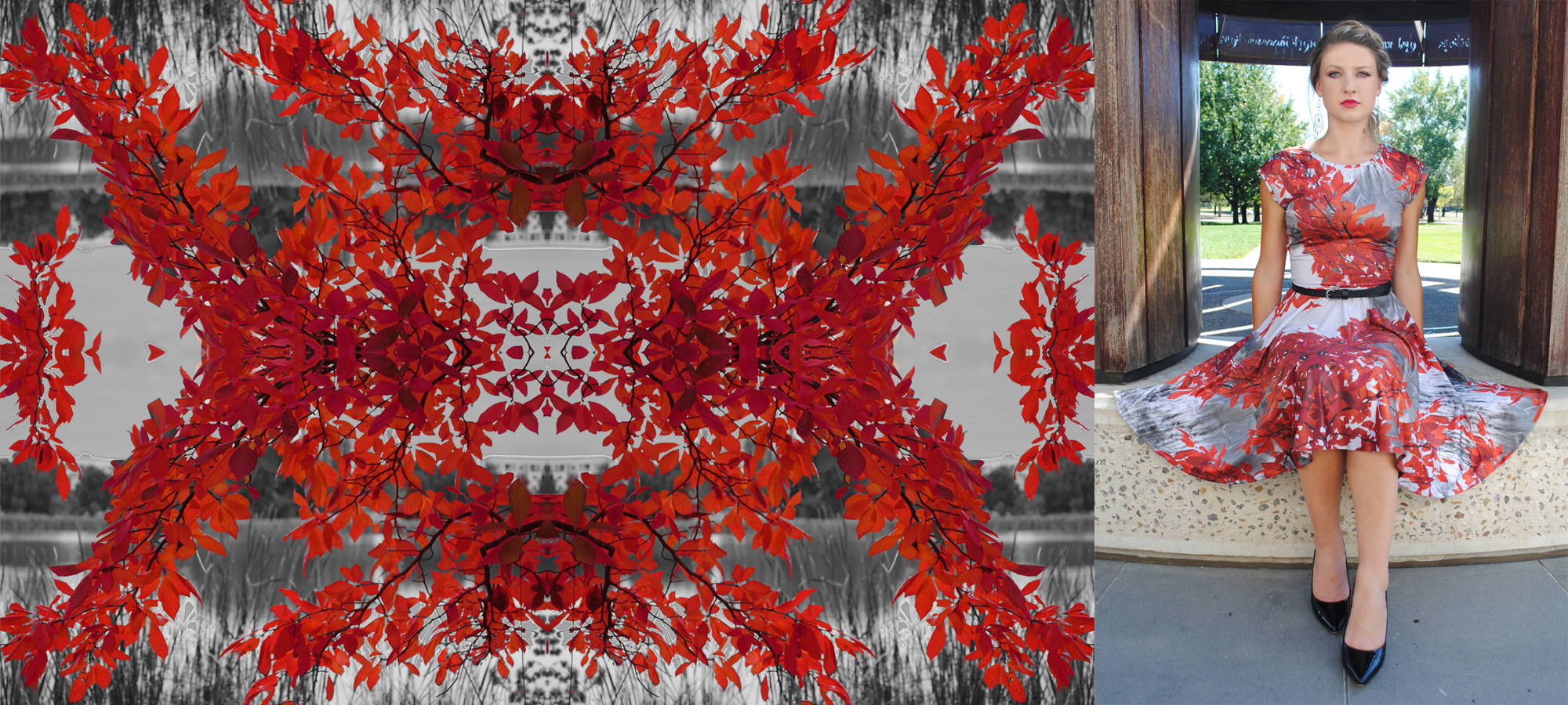 Zilpah tart Red leaves Print