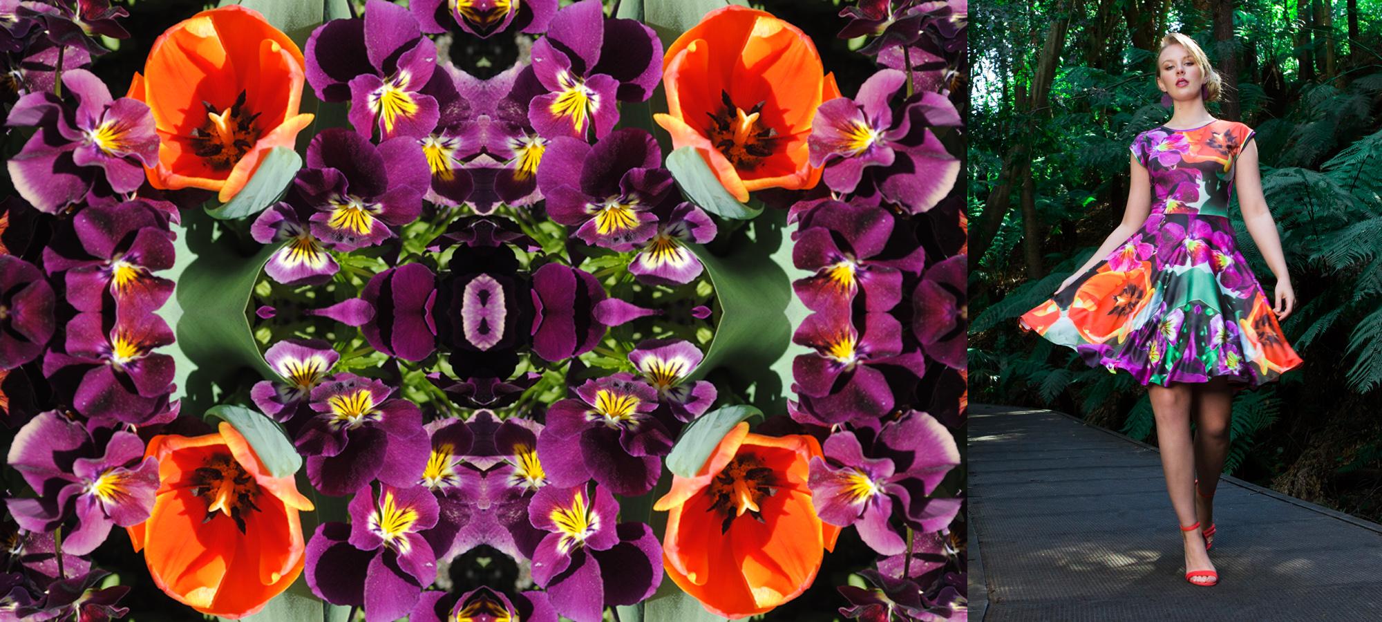 Zilpah tart Violets print