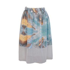 Zilpah tart Sea mist skirt