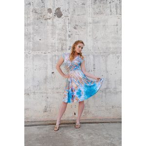 Rocky Shores Print Cross Front Dress