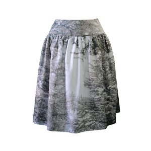 Gathered skirt - Grey Forest