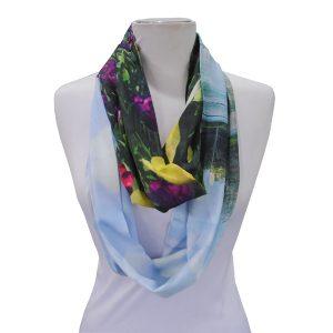 Loop scarf scenery print