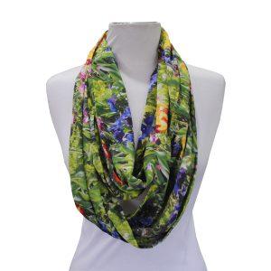 Loop scarf - tulips print
