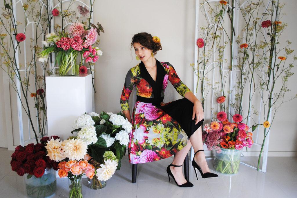 Floral dress by Zilpah tart