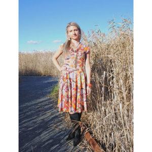 Autumn Print Dress