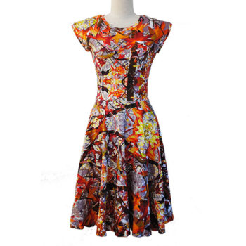 Autumn Print Dress