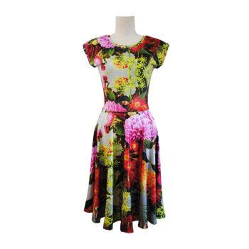 jersey floral dress