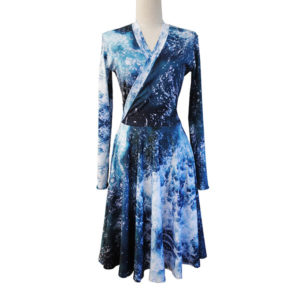ocean print dress