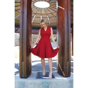 Sarah Dress red