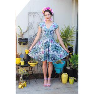 Cross-front Dress