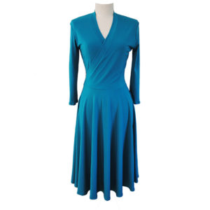 Teal Jersey Dress