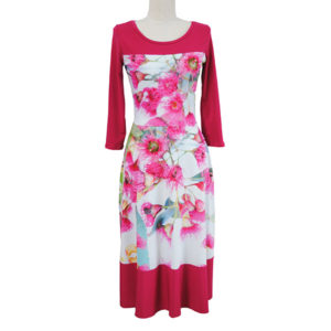 Pink Gum Blossom Dress