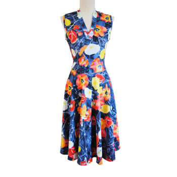 Blue Poppy Dress