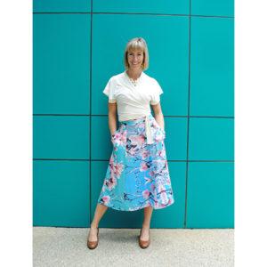 Magnolia print skirt