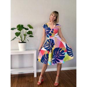 Monstera Print Dress