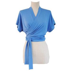 Soft Wrap Top Blue