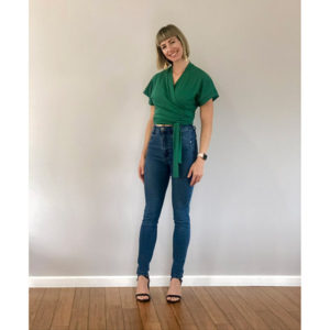 Soft Wrap Top Emerald