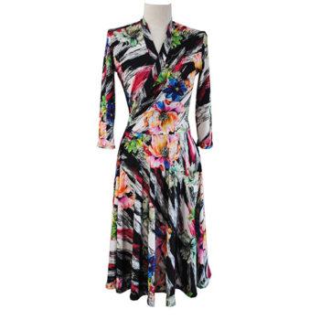 rainbow print dress