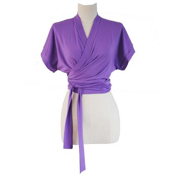 purple Wrap Top